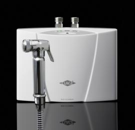 MCX3/4 - Malý elektronicky řízený průtokový ohřívač se sprškou. Zajistí bezpečnou teplotu vody za všech okolností.